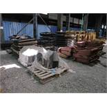 (LOT) MISCELLANEOUS ALLIED GATOR FABRICATED PARTS INCLUDING CLAM SHELL ATTACHMENTS, WINDOW GUARDS,