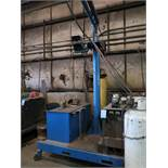 650 AMP MILLER DELTA WELD 650 WELDER WITH 15' BOOM AND MILLER WIRE FEED
