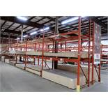 6 SECTIONS OF 12' HIGH PALLET RACKING, 9' SECTIONS