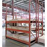 """1 SECTION OF 12"""" HIGH PALLET RACKING, 9 ' SECTIONS"""