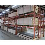 4 SECTIONS OF 12' HIGH PALLET RACKING, 9' SECTIONS
