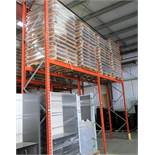 2 SECTIONS OF PALLET RACKING W/ (2) 18' UPRIGHTS, (4) 9' CROSS BEAMS