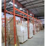 7 SECTIONS OF PALLET RACKING W/ (1) 18' UPRIGHT, (7) 12' UPRIGHTS, (14) 9' CROSS BEAMS