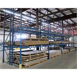 4 SECTIONS OF 18' HIGH PALLET RACKING, 10' SECTIONS