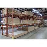 7 SECTIONS OF 12' HIGH PALLET RACKING, 9' SECTIONS