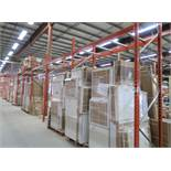 11 SECTIONS OF PALLET RACKING W/(2) 18' UPRIGHTS; (10) 12' UPRIGHTS,(22) 9' CROSS BEAMS