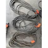 (3) Arc welding leads, approx 50' each