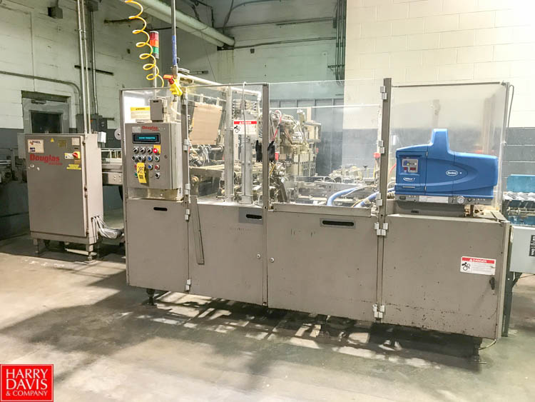 Lot 285 - Douglas Tray Former/Packer, S/N M-4329, with Nordson Pro Blue 7 Gluer and Allen Bradley SLC5/03