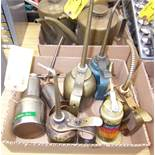 LOT OF OIL CANS