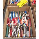 LOT OF ASSORTED DOUBLE END MILLS