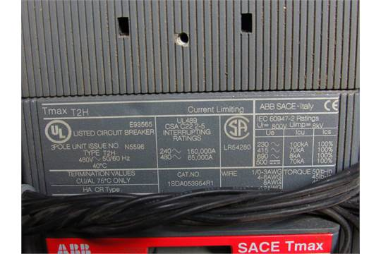 LOT OF 2 ABB SACE TMAX 25A BREAKERS