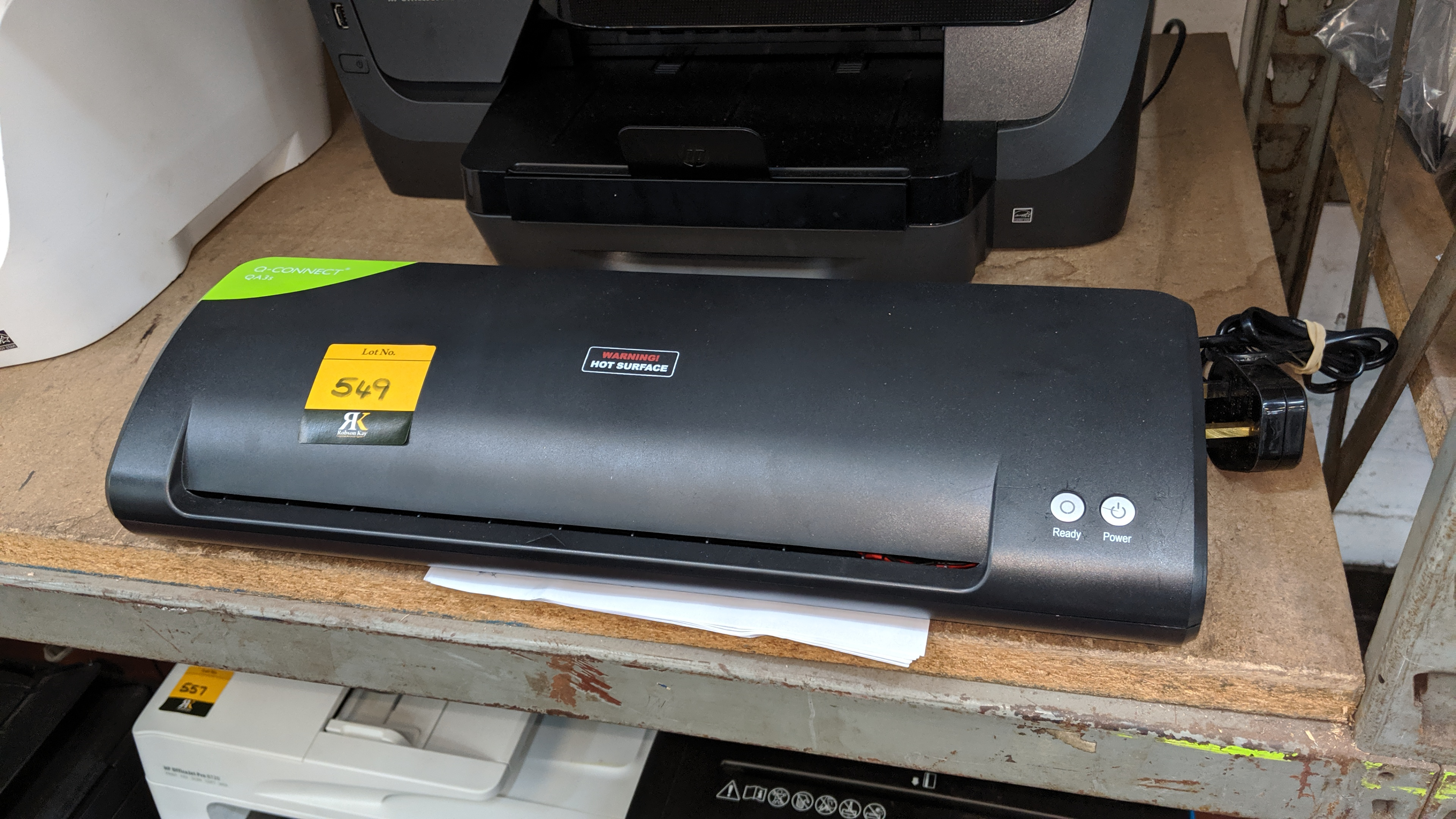 Lot 549 - Q-Connect QA3S A4 & A3 hot & cold laminator. This is one of a large number of lots used/owned by One