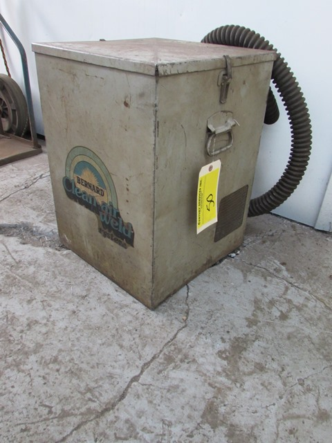 Lot 50 - Bernard 6300 clean air weld system fume extractor