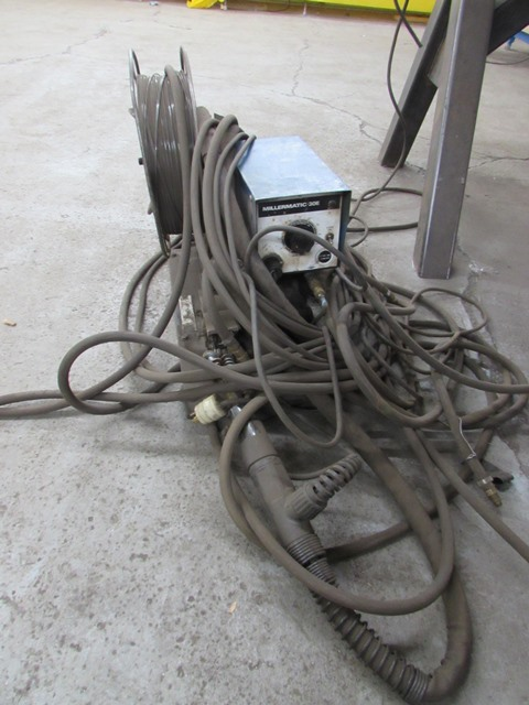 Lot 40 - Miller Millermatic-30E welding station c/w feeder
