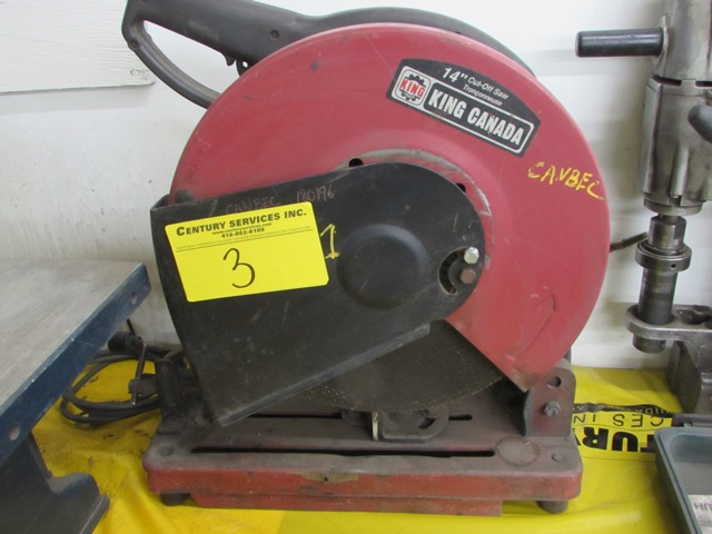 "Lot 3 - King Canada 14"" cut off saw"