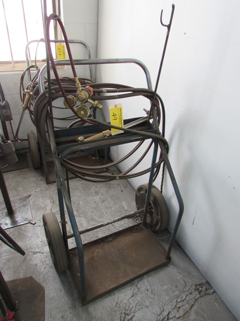 Lot 49 - Welding cart  c/w hose and torches