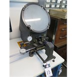 MicroVu mdl. 500HP Bench Model Optical Comparator s/n 20792