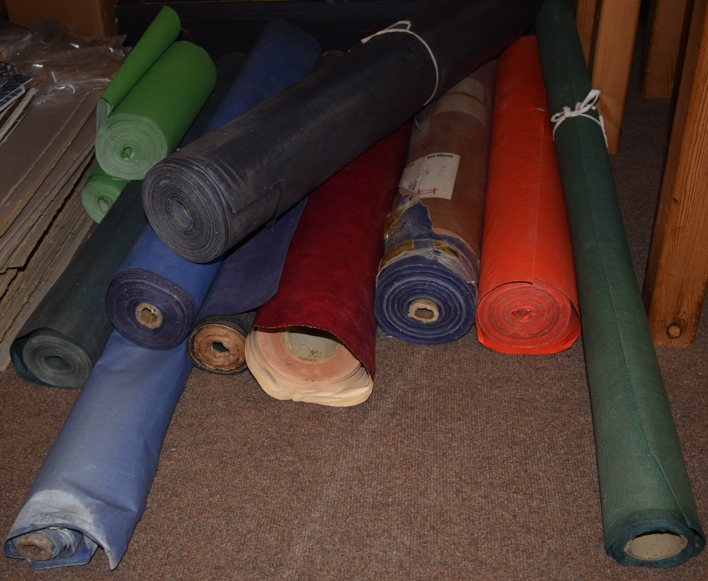 Lot 43 - *Book cloth. A selection of 11 rolls of bookbinding book cloth & papercloth etc., including