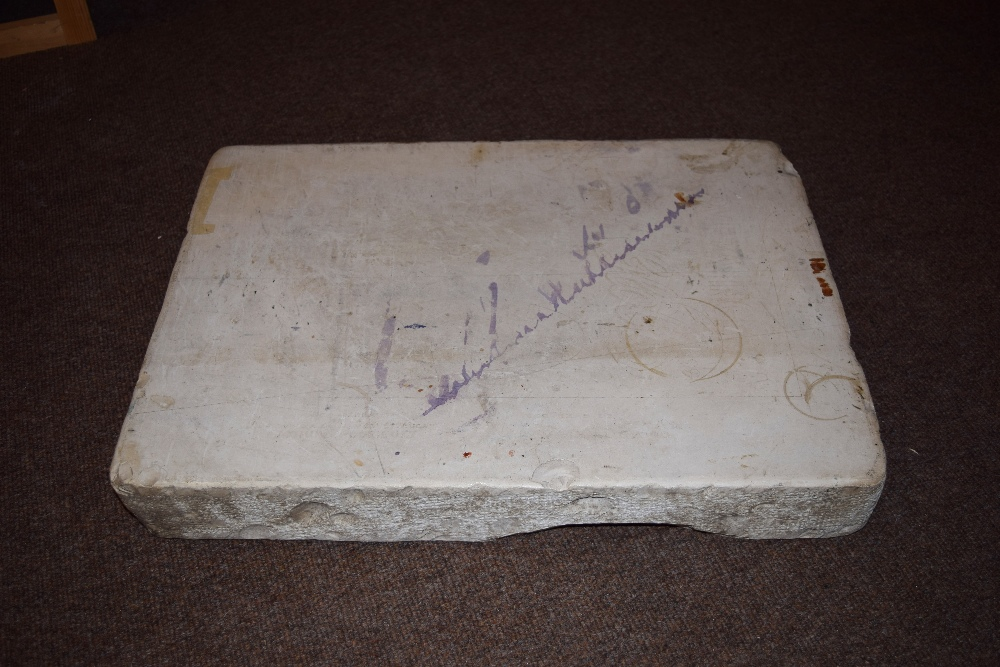 Lot 12 - *Lithography Stone. A large lithography stone, dimensions 56 x 40.5cm (22 x 16 inches) Suitable as a