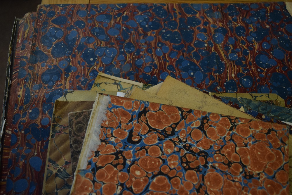 Lot 48 - *Marbled paper. A selection of approximately 180 sheets of handmade marbled paper, recovered from