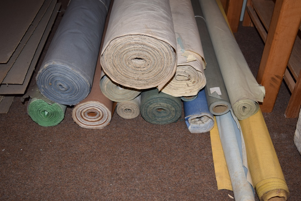 Lot 44 - *Book cloth. A selection of 14 rolls of bookbinding book cloth, including general book cloth &