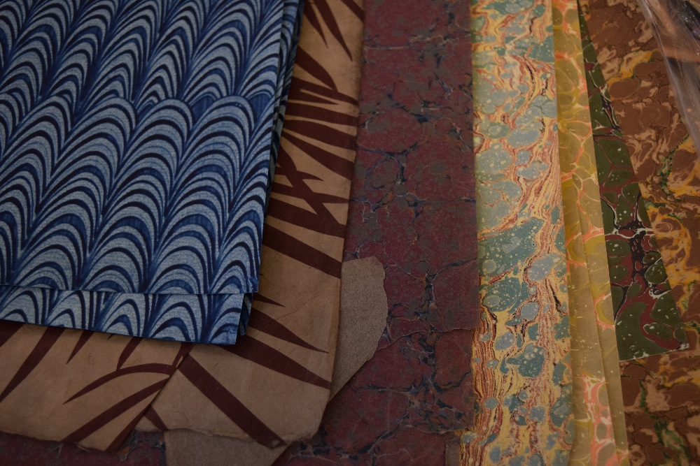 Lot 53 - *Marbled Paper. An assortment of approximately 30 handmade marbled and decorative papers,
