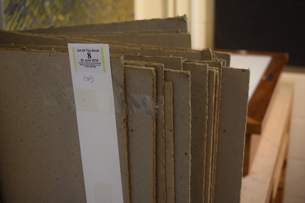 Lot 8 - *Bookbinding Millboard. 50 sheets of 4mm Millboard, dimensions 133 x 71cm (51.5 x 28 inches) (50)