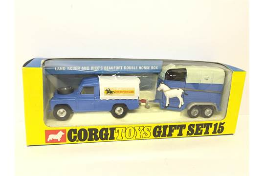 corgi toys gift set 15 land rover and rice 39 s beaufort. Black Bedroom Furniture Sets. Home Design Ideas