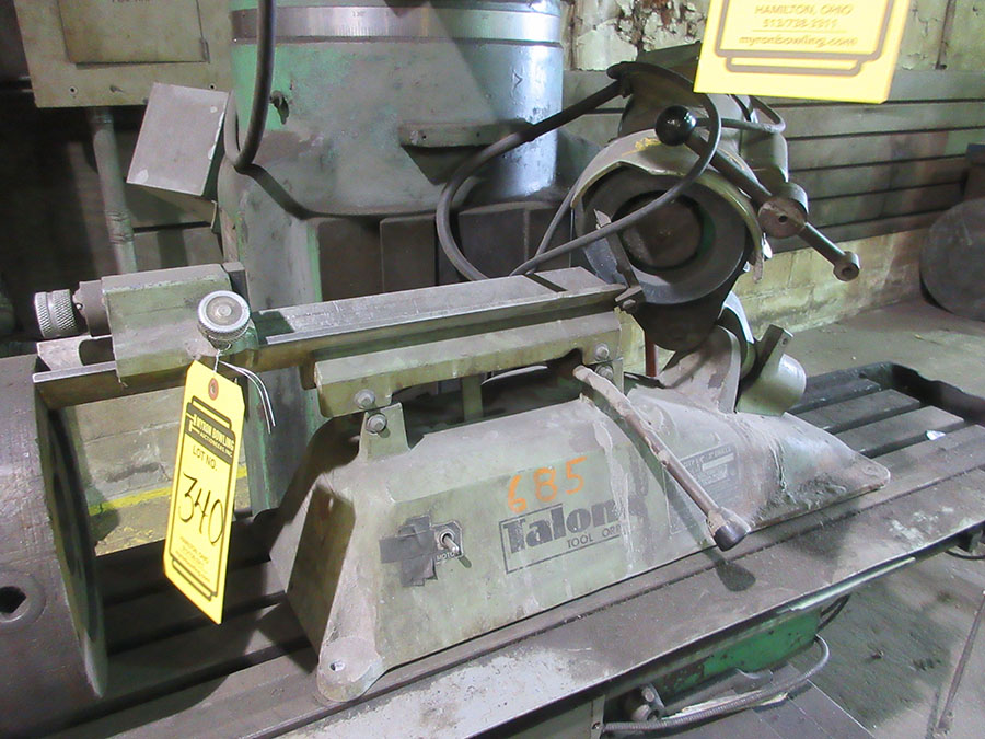 Lot 340 - TALON TOOL GRINDER 1/4''-3'' DRILL; MODEL 300, S/N 0061