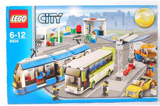 A Lego City set No 8404 ' Public Transport Station '  Vendor assures