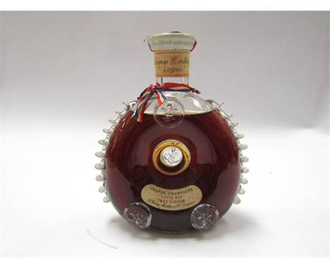 Remy Martin Louis XIII Cognac Tres Vieille, in Baccarat crystal decanter English/French label circa 1962-63