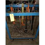 ASSORTED WRENCHES & ROLLER RACK