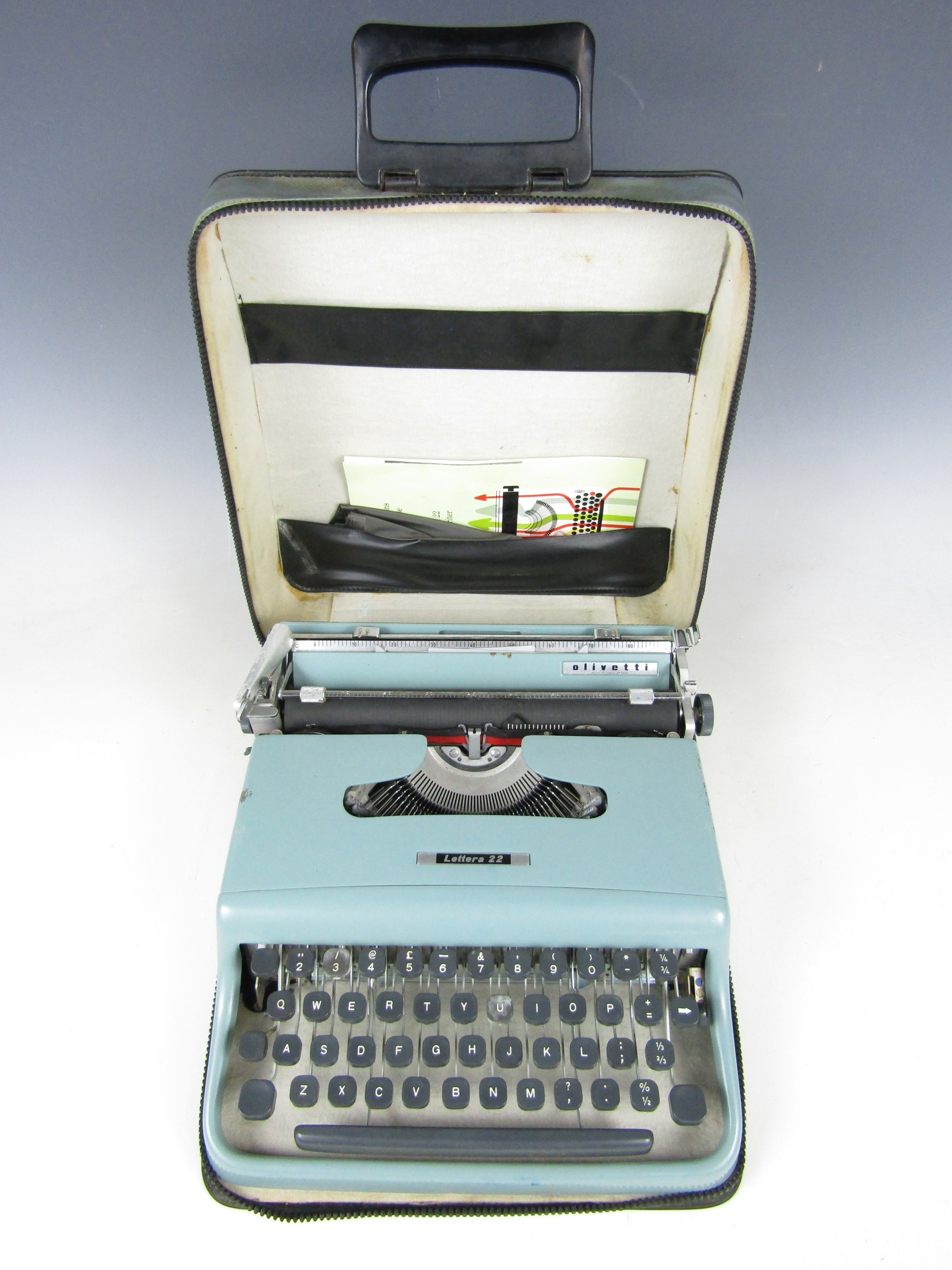 Lot 34 - A 1960's Olivetti Letra 22 portable typewriter