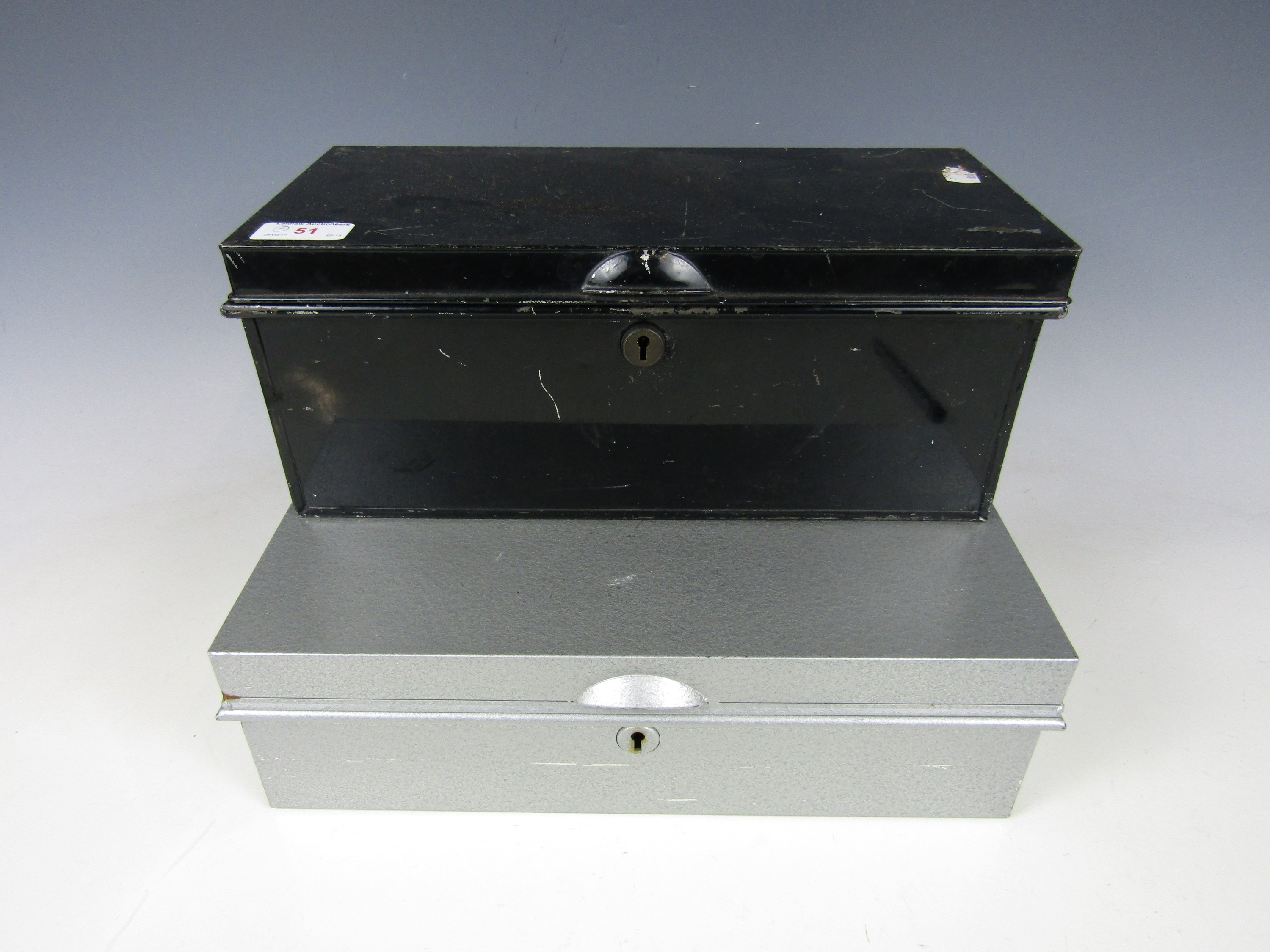 Lot 51 - Two deed boxes