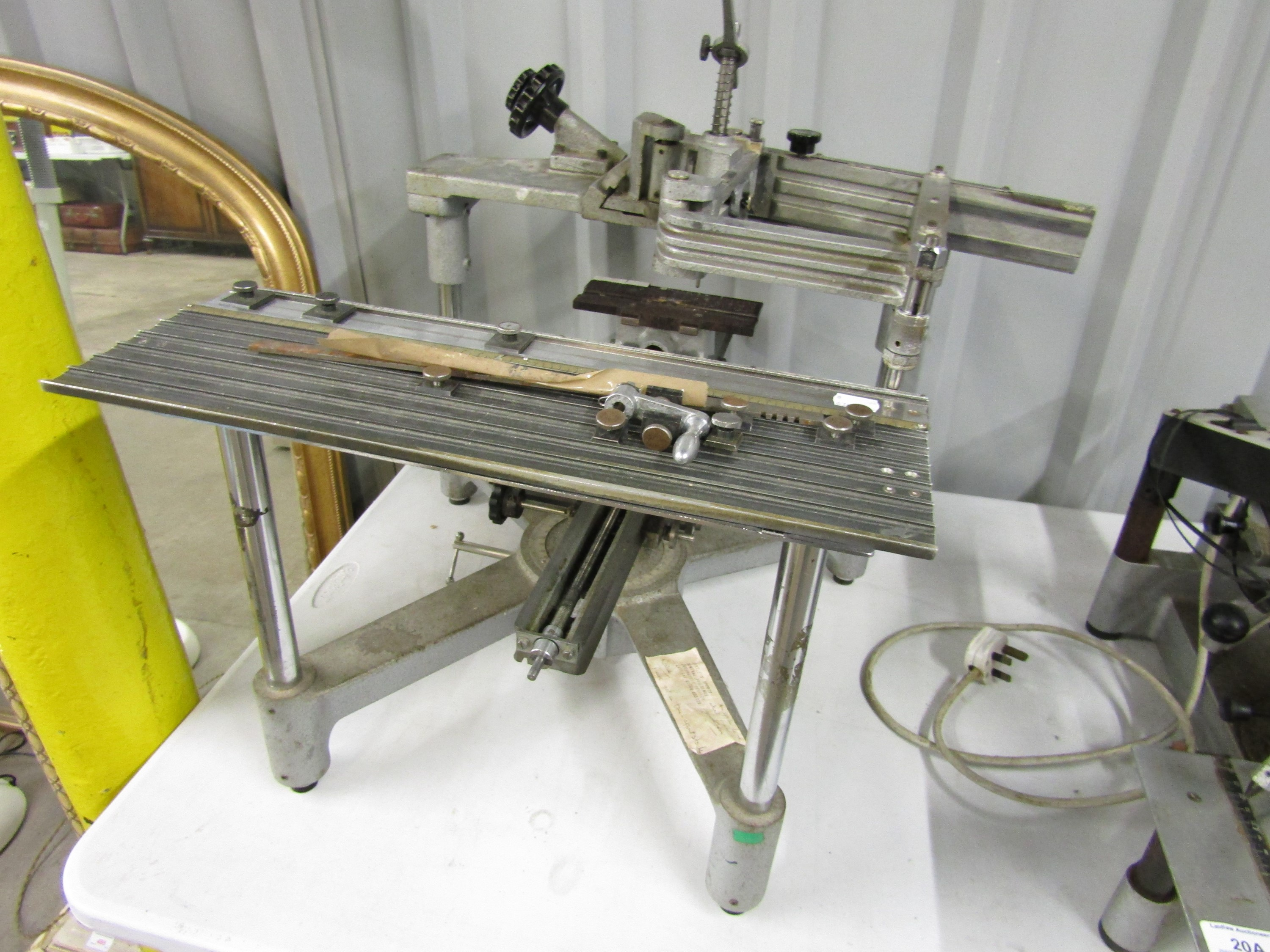 Lot 20A - Three engraving machines with letter sets and other accessories