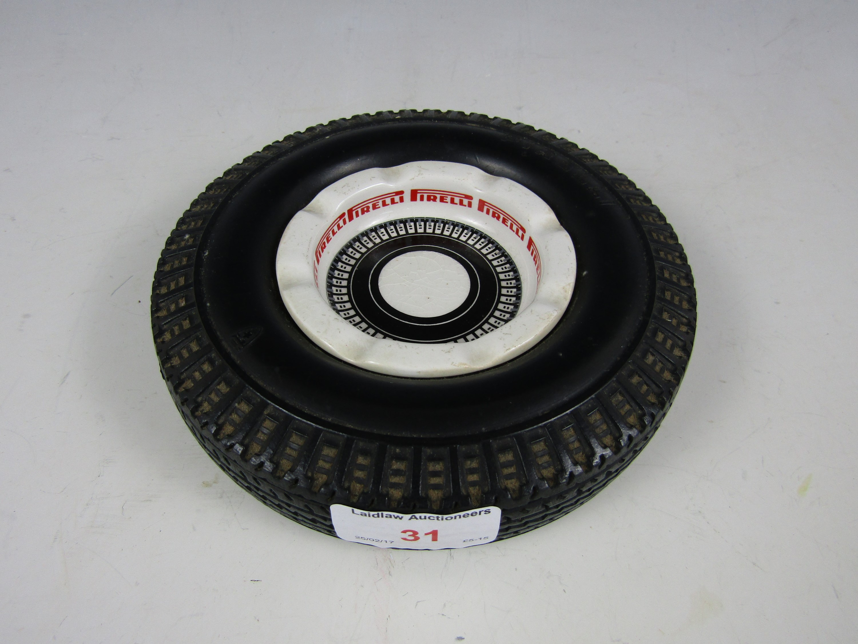 Lot 31 - A T.G. Green Gresley ware 1960's Pirelli advertising tyre ashtray