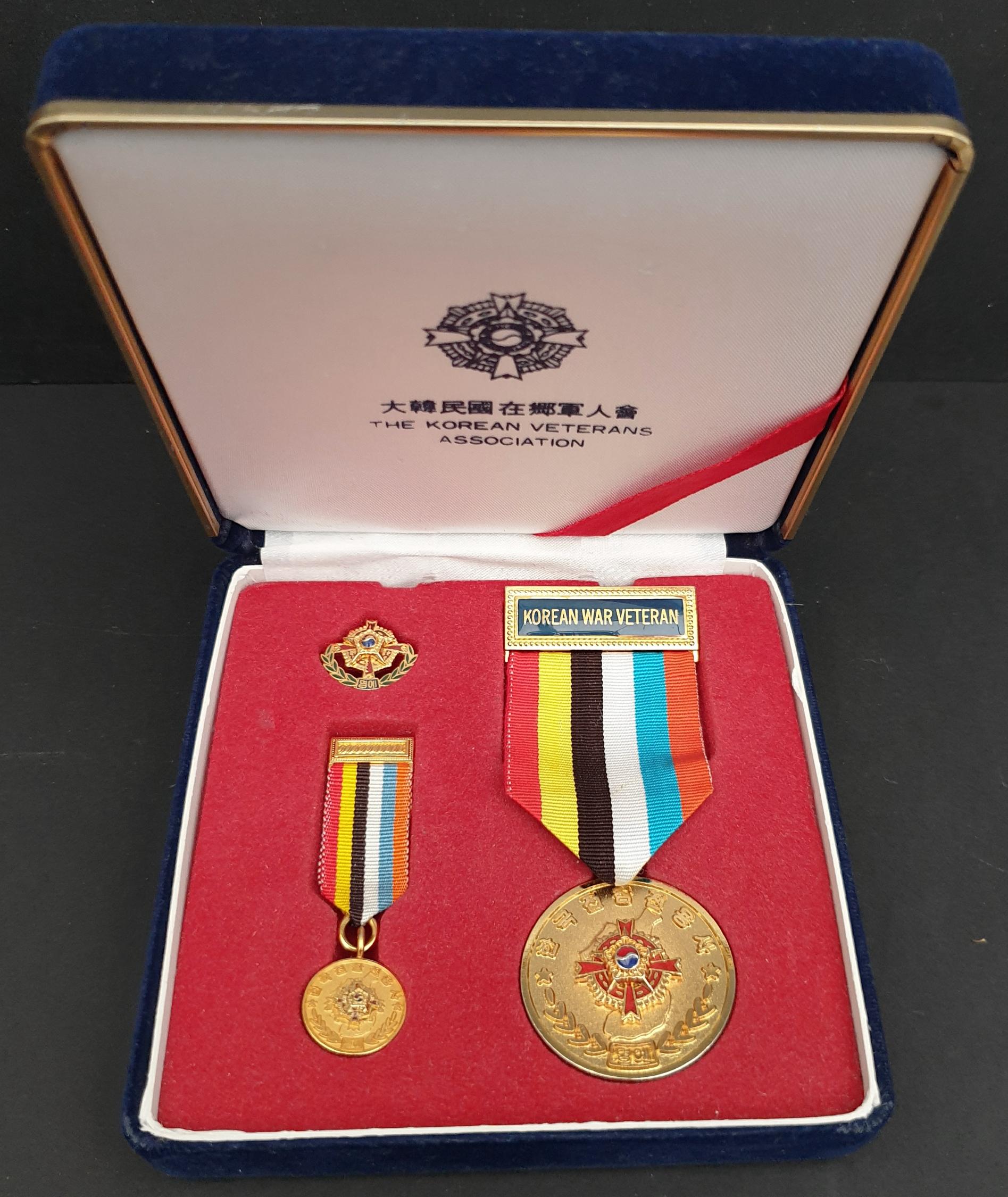 Korean War Veterans Association Presentation Medal Set