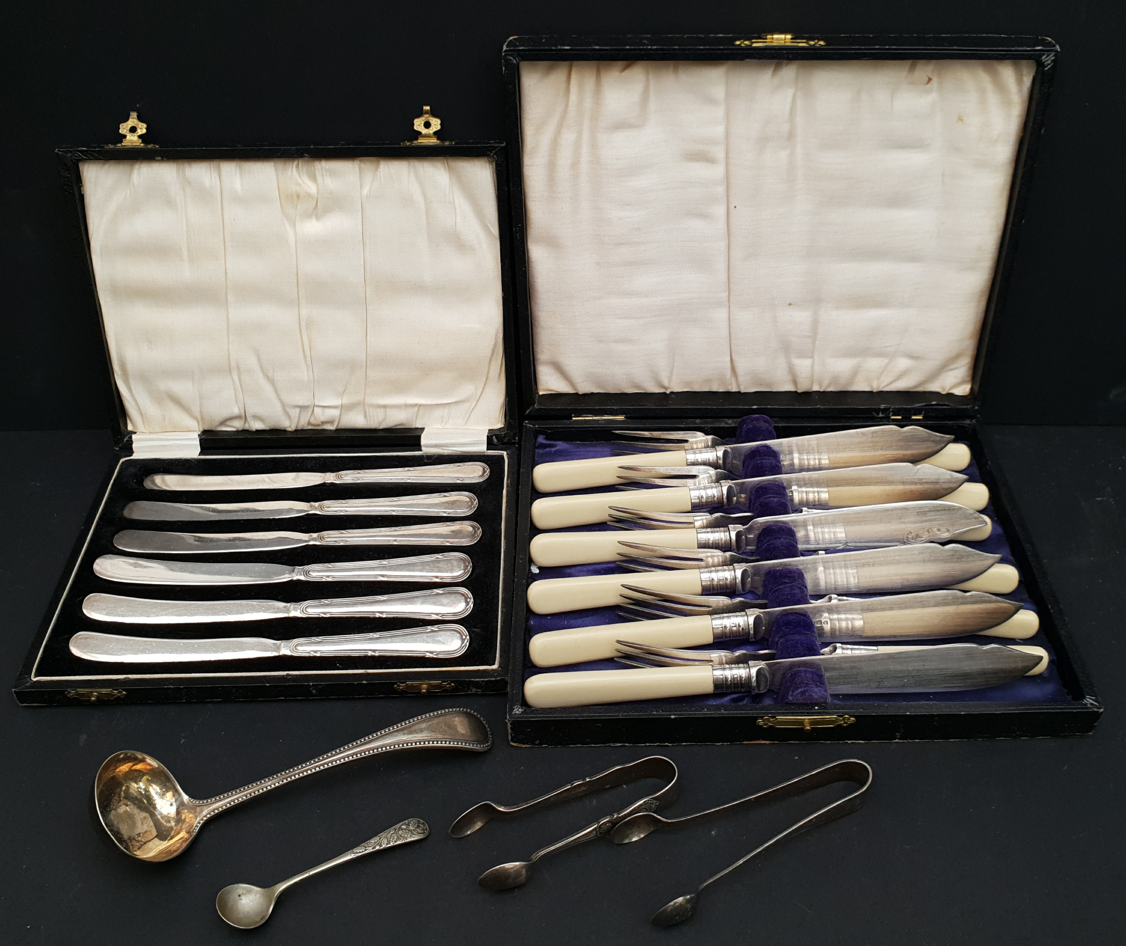 Vintage 2 x Boxed Flatware and Others