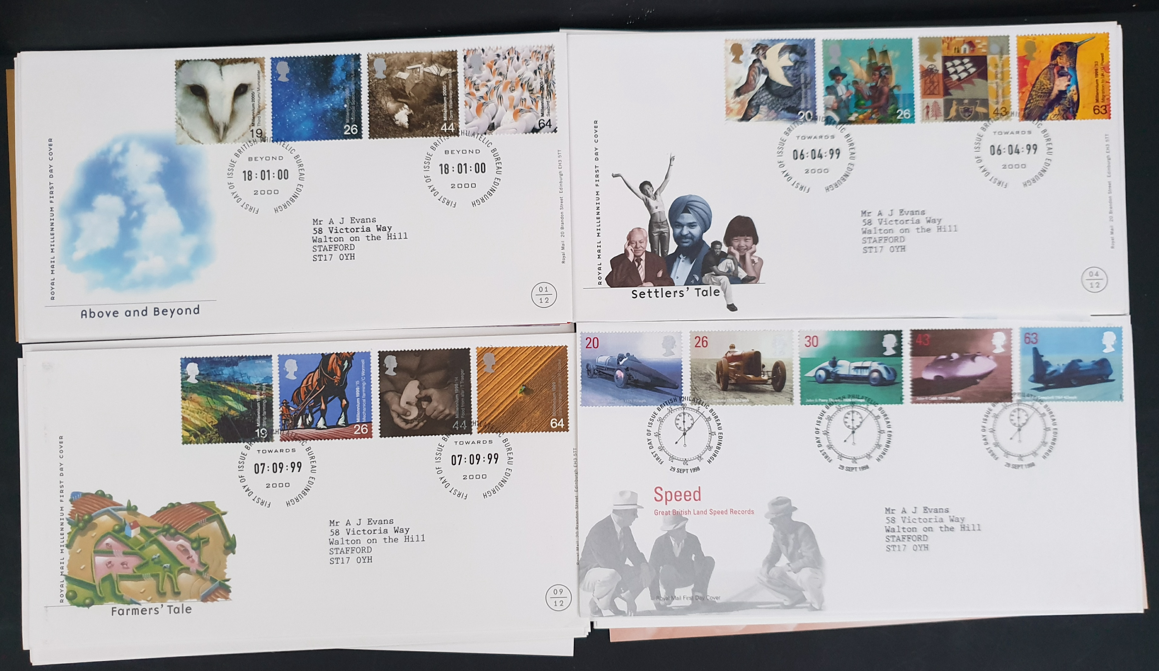 20 x Collectable Vintage First Day Covers 1998/99