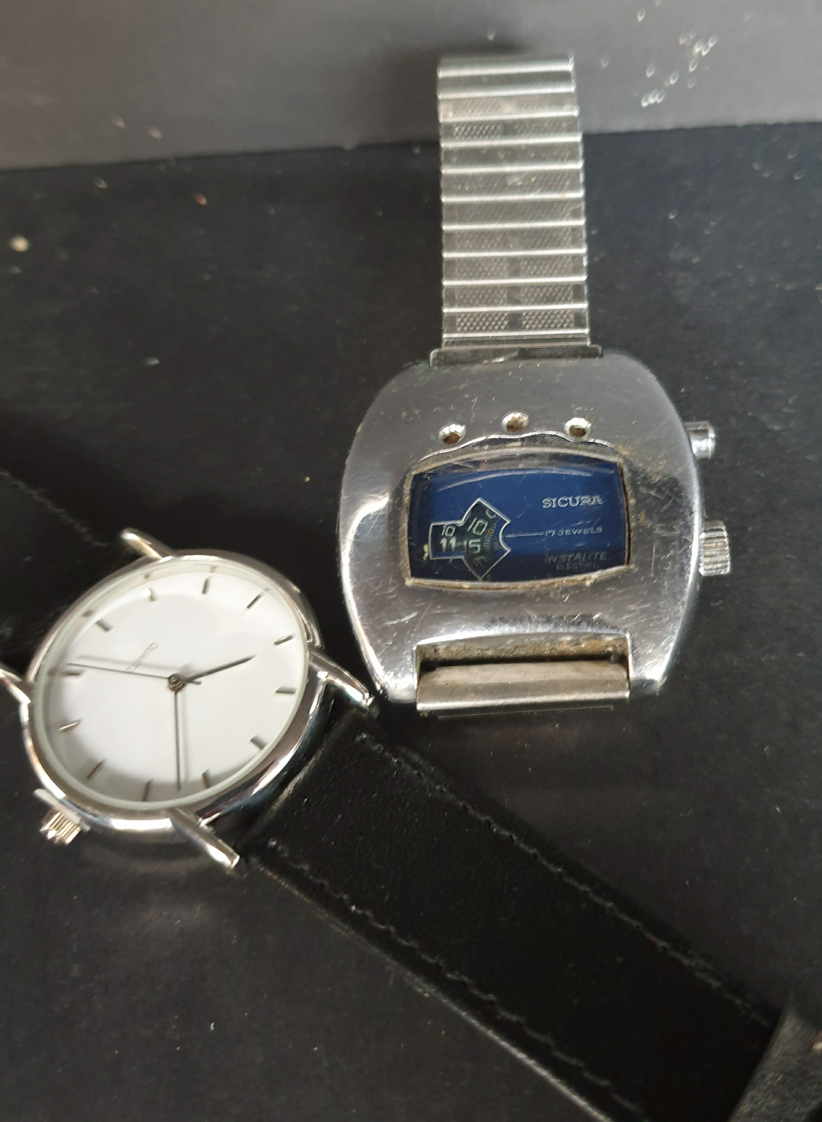 Vintage Sicura Instalite Electric Wrist Watch Plus 1 Other
