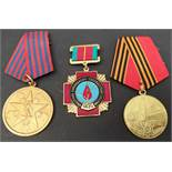 Vintage Russian & Yugoslavian Military Medals 3 in Total