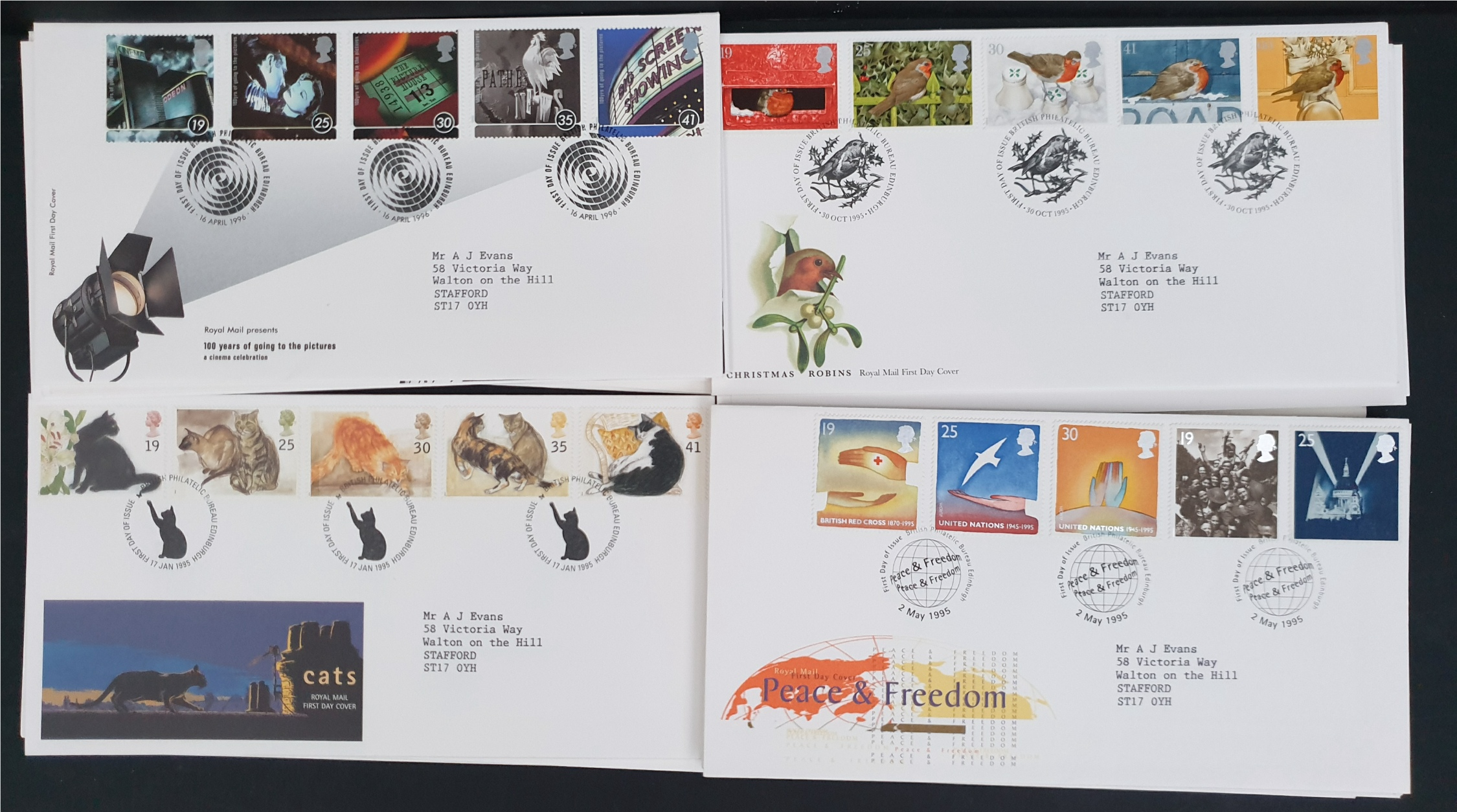 20 x Collectable Vintage First Day Covers 1995/96