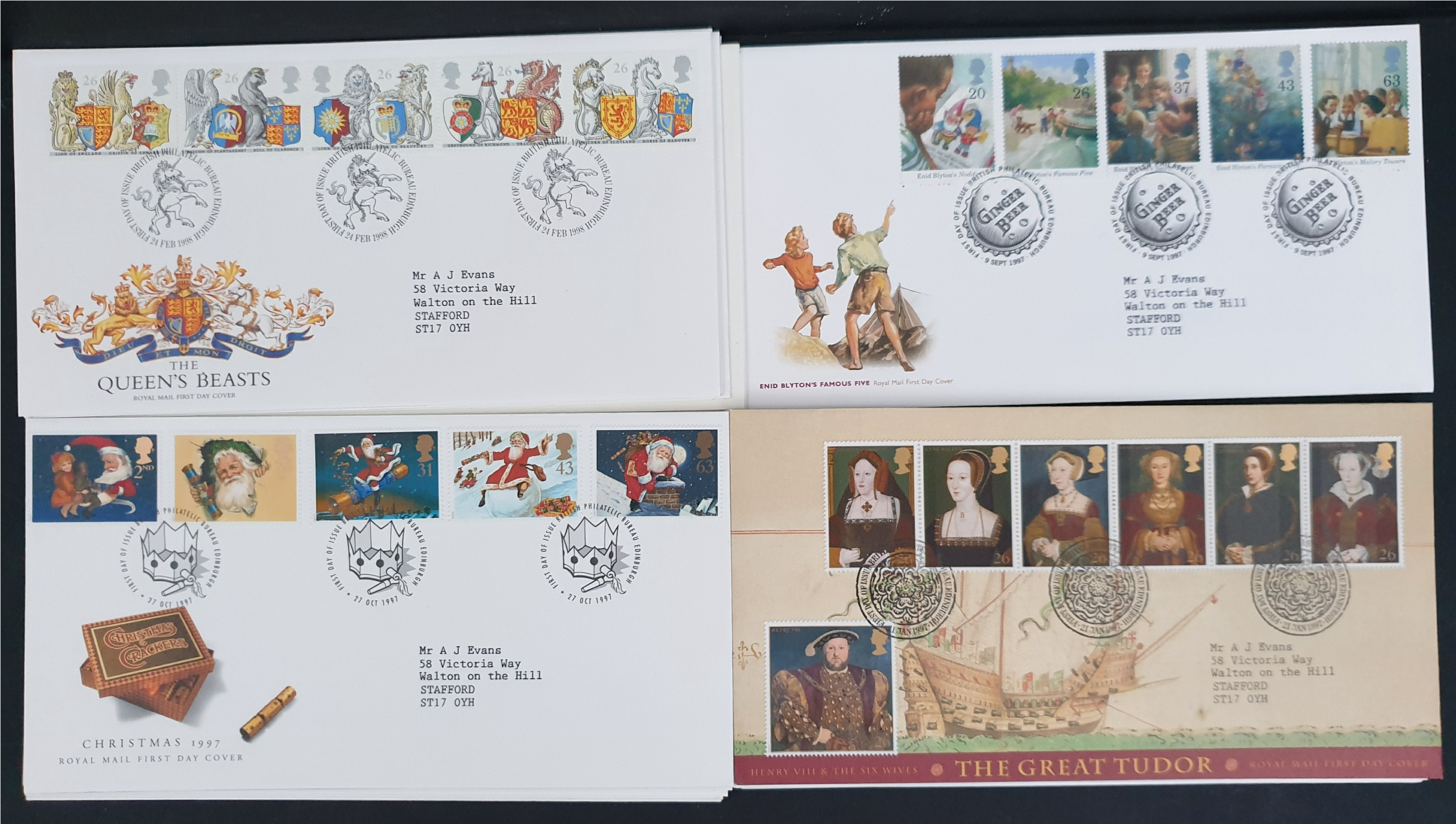 20 x Collectable Vintage First Day Covers 1997/98