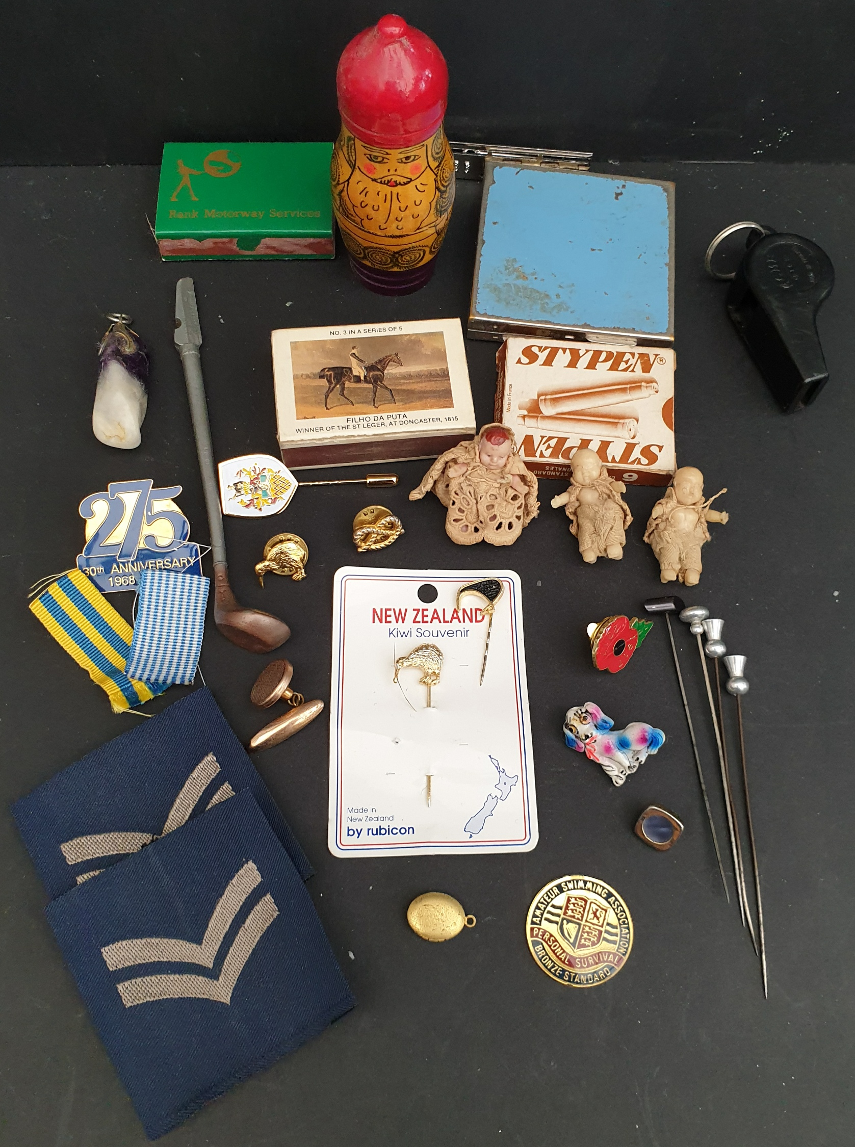 Parcel of Cpllectables Includes Military Mini Dolls Costume Jewellery