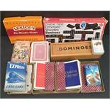 Vintage Parcel of Playing Cards, Dominoes and Other Games