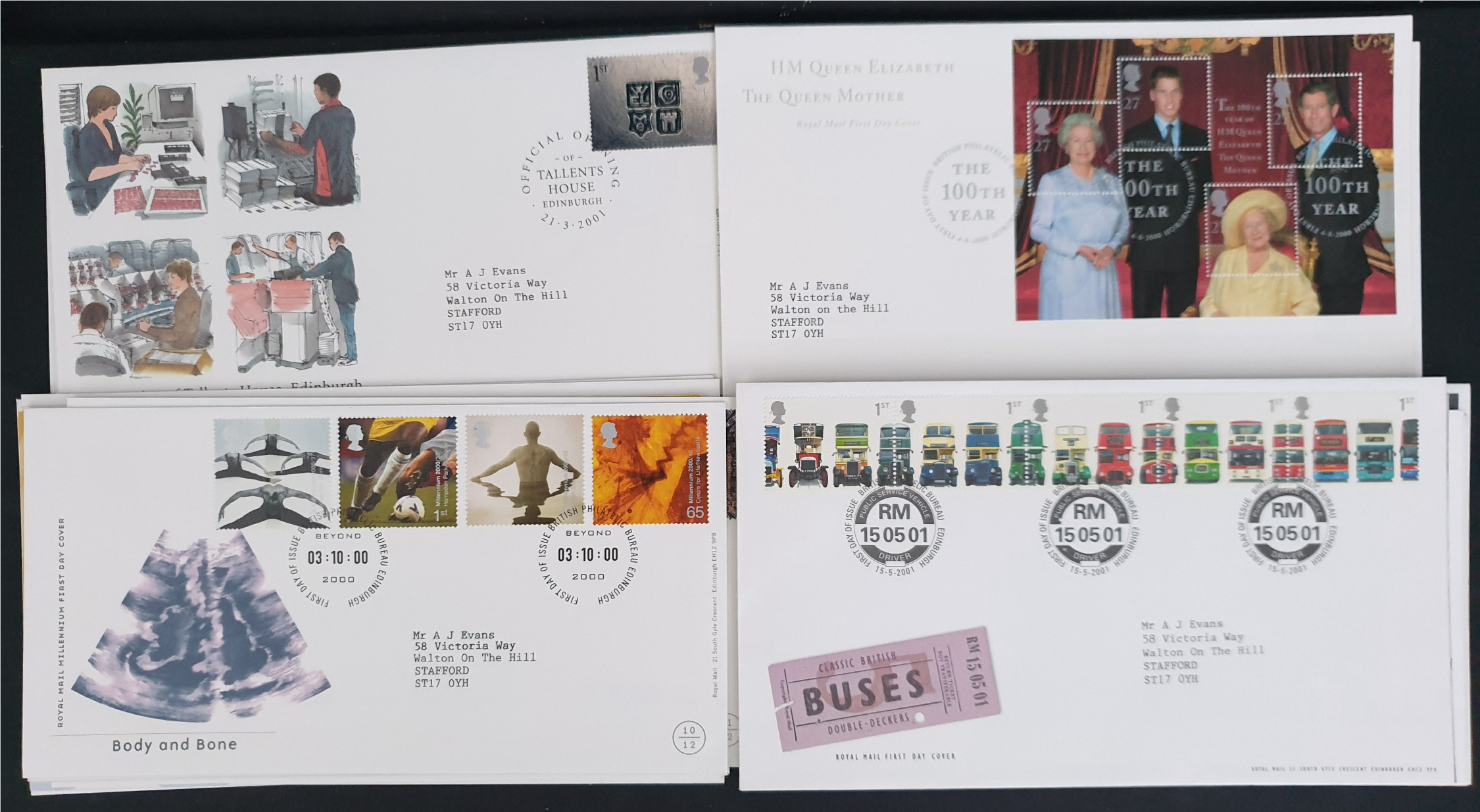20 x Collectable Vintage First Day Covers 2000/2001