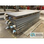 (LOT) APPROX. 32,228 LBS. COATED SHEET STEEL, 1-STACK, 12-BUNDLES, SEE INVENTORY FOR LISTING.