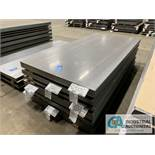 (LOT) APPROX. 26,400 LBS. UNCOATED SHEET STEEL, 1-STACK, 6-BUNDLES, SEE INVENTORY FOR LISTING.