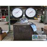 HYDRAULIC STEEL PRESSURE TESTER; WITH 30,000 & 6,000 MARSHALLTOWN DIAL GAGES