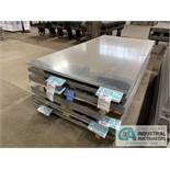 (LOT) APPROX. 21,500 LBS. COATED SHEET STEEL, 1-STACK, 6-BUNDLES, SEE INVENTORY FOR LISTING.